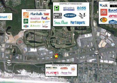 Aerial of Destin Retail in Destin, FL