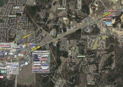 Aerial of Flowood Crossroads in Flowood, MS