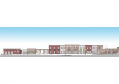 Front Elevation of District at Midtown Building A in Hattiesburg, MS