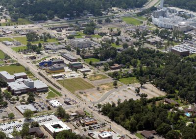 Aerial of District at Midtown in Hattiesburg, MS