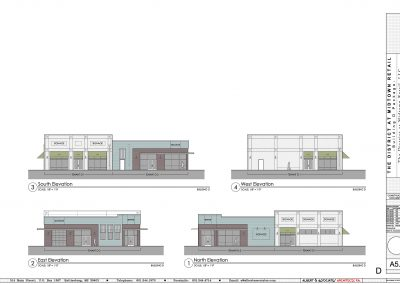 Front Elevation of District at Midtown Building D in Hattiesburg, MS