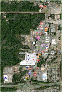 Aerial View of Hwy 85 & Duggan Avenue in Crestview, FL