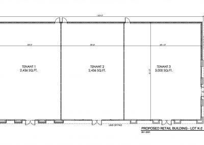 Floor Plan for Lot K-2 of Stadium Trace Village