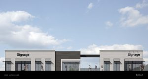 Building B Elevation Rendering at The Market at Stadium Trace