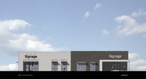 Building C Elevation Rendering at The Market at Stadium Trace